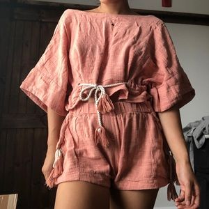 Free People Pink Co-ord Set Size S